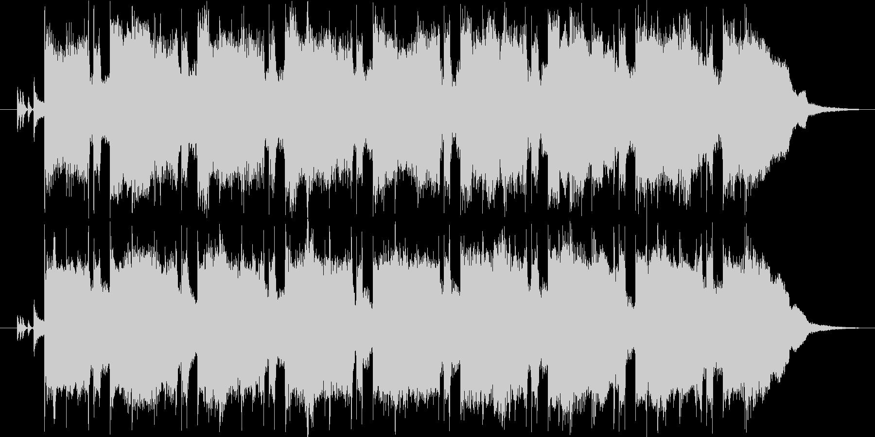 レクイエムをイメージした静かな曲の未再生の波形