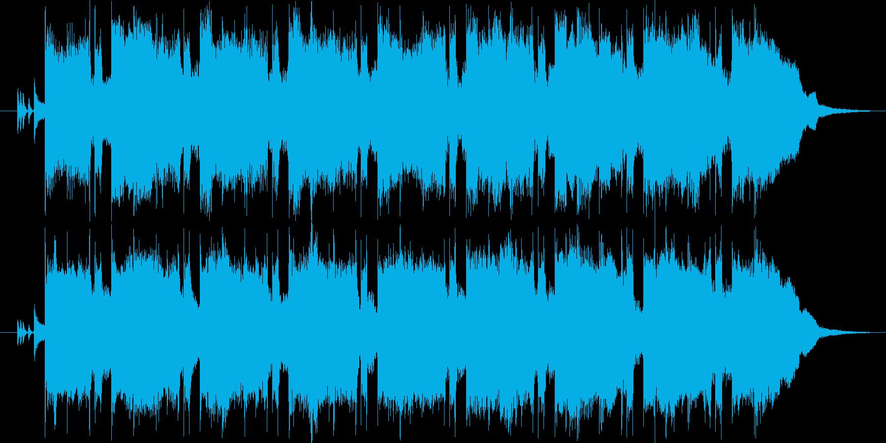 レクイエムをイメージした静かな曲の再生済みの波形