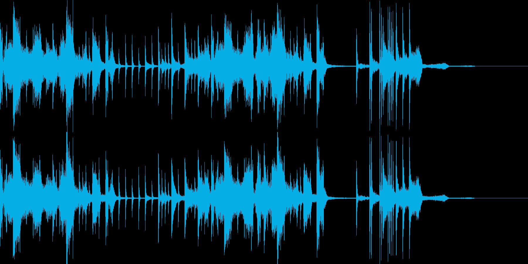 トゥワークなシンキングタイム音の再生済みの波形