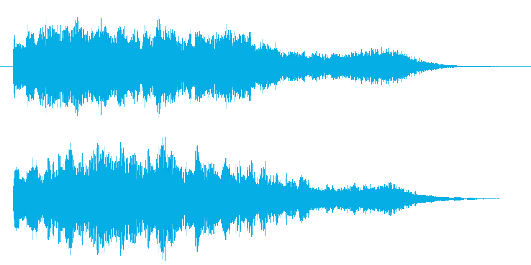 幻想的なクリスタルサウンドのショートロゴの再生済みの波形