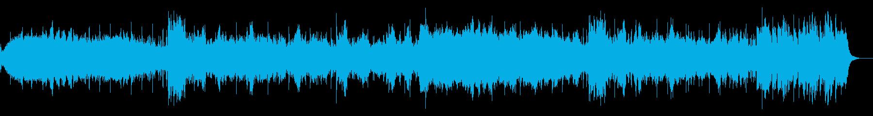 ダークなギターアンビエントの再生済みの波形