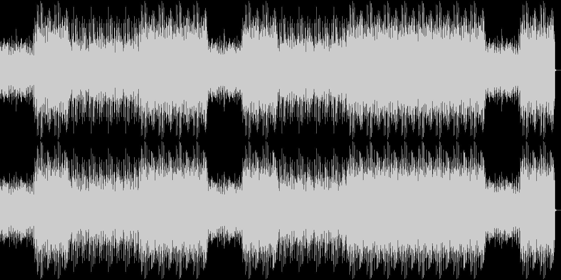エンディング前の盛り上がる曲の未再生の波形