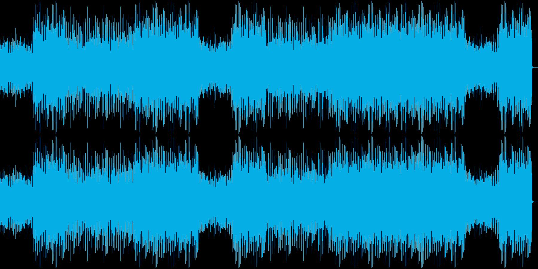 エンディング前の盛り上がる曲の再生済みの波形
