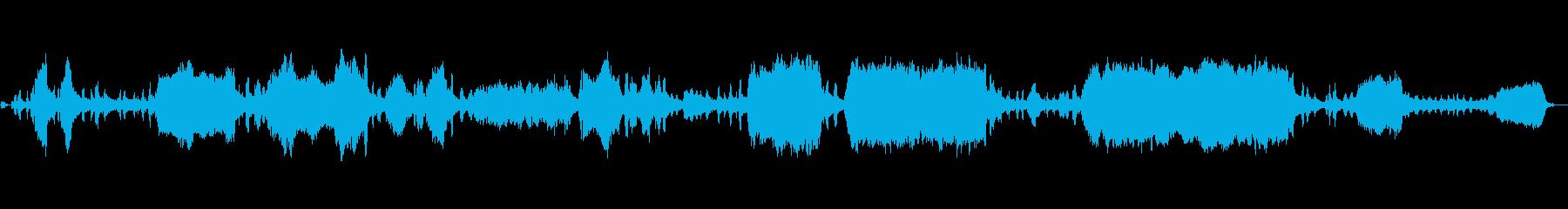 チェーンソーの開始、カット、停止、...の再生済みの波形