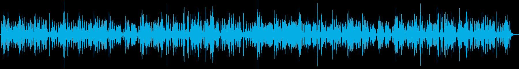 古いジャズ、ブルース調・レコード再生風の再生済みの波形