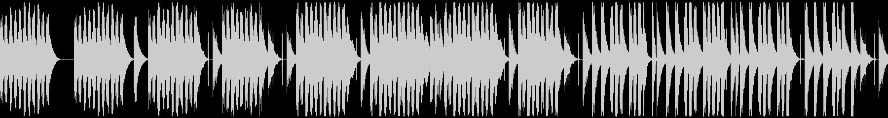 ほのぼのコミカルなリコーダーとマリンバの未再生の波形
