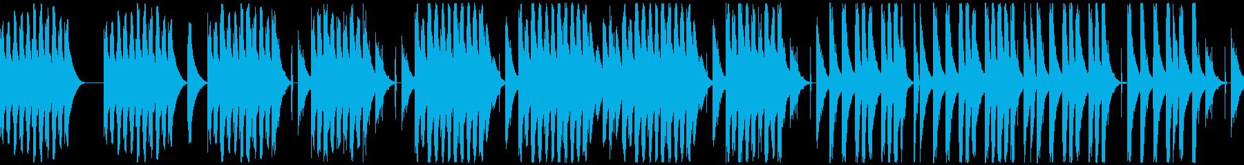 ほのぼのコミカルなリコーダーとマリンバの再生済みの波形