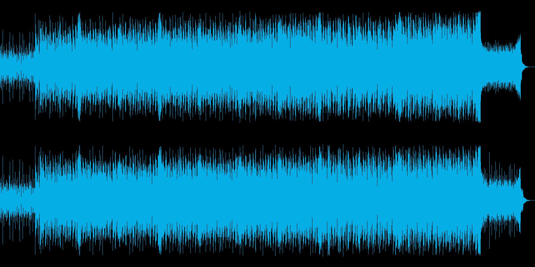 軽快なピアノテクノポップスの再生済みの波形
