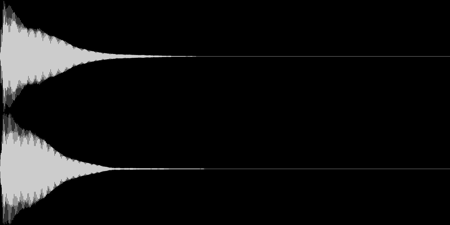 カーソル音5【コンッ】の未再生の波形