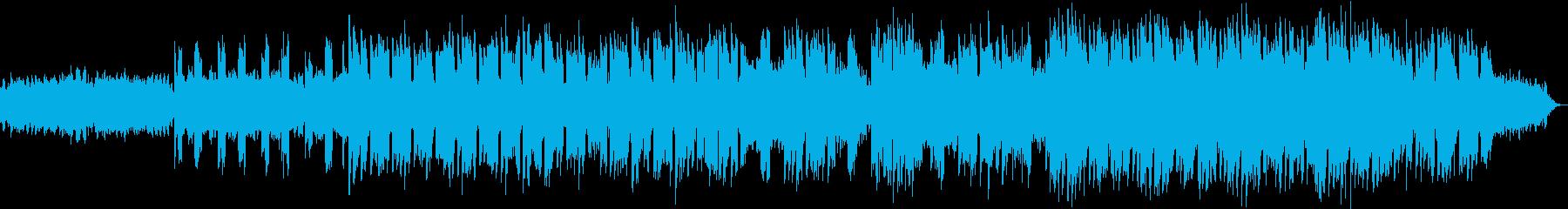 柔らかなエレピとクアイアの曲の再生済みの波形