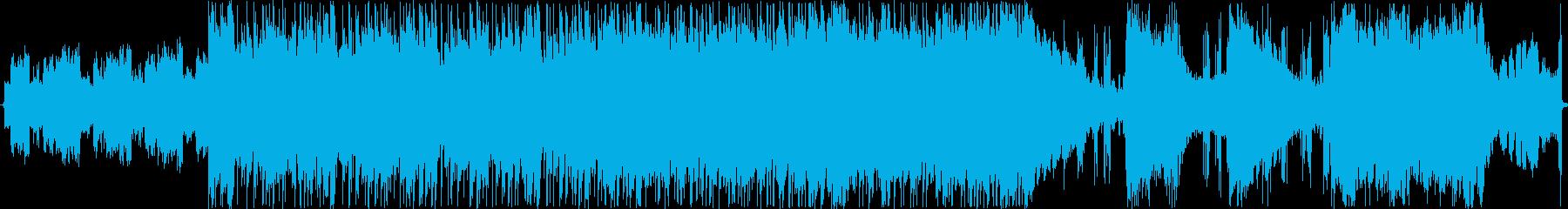徐々に崩壊していくロックの再生済みの波形