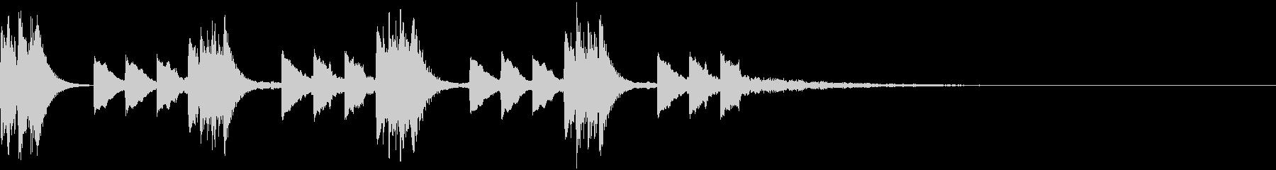 綺麗で印象的な着信音5の未再生の波形