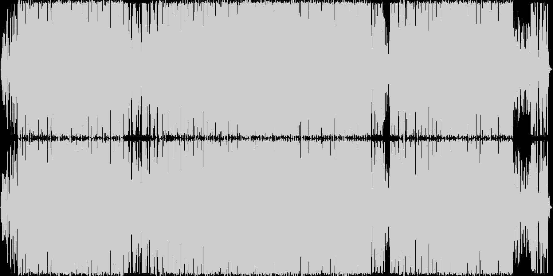 オシャレな洋楽EDMの未再生の波形
