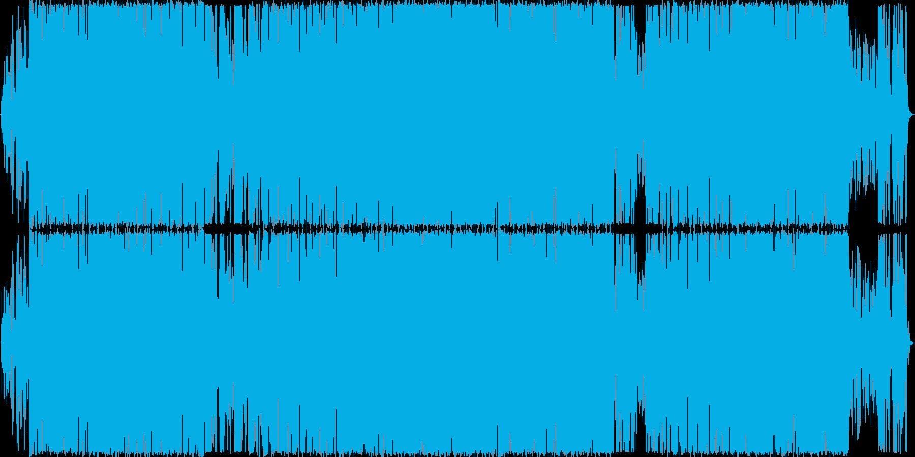 オシャレな洋楽EDMの再生済みの波形