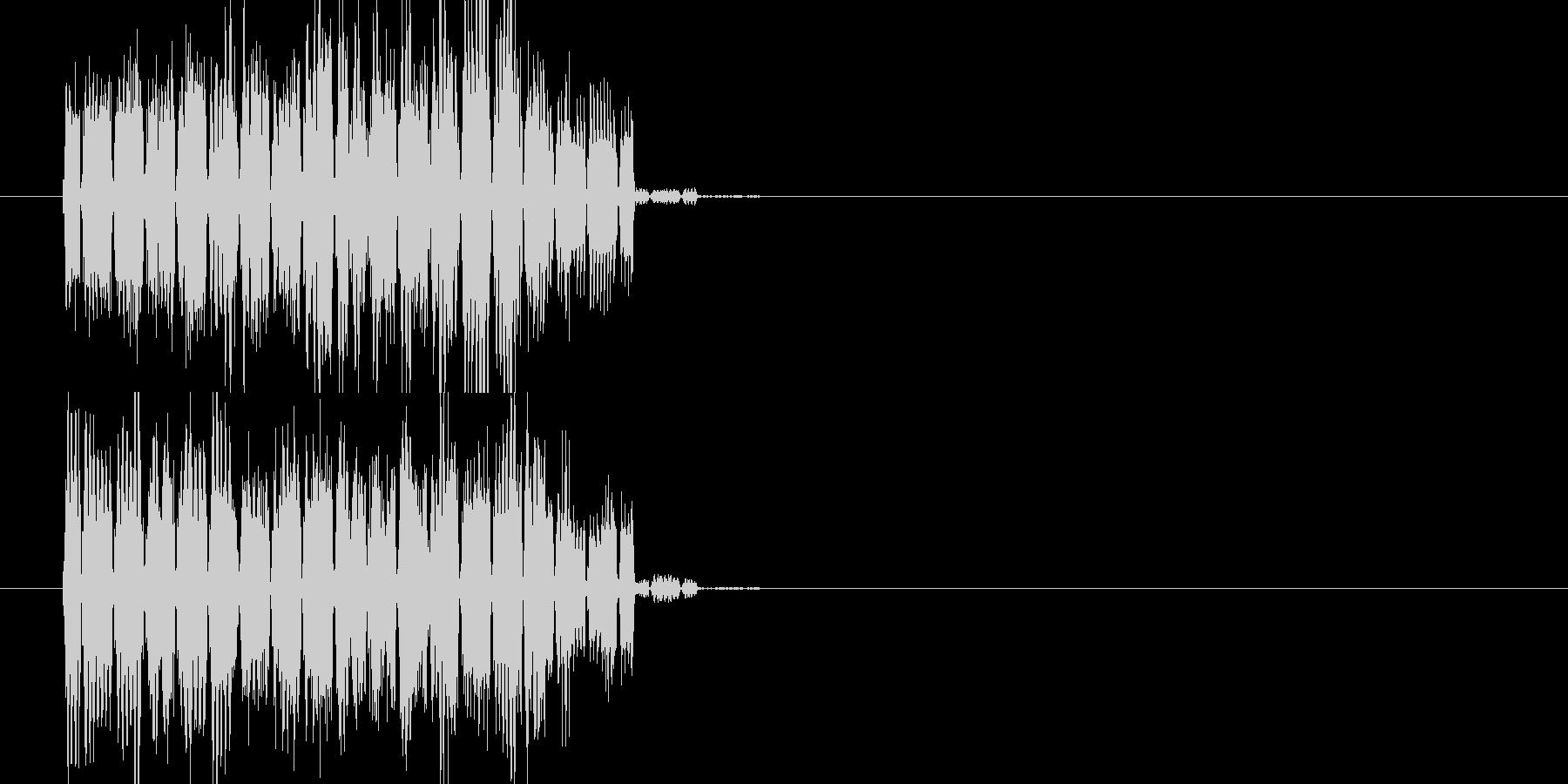 ファミコン風 呪文音の未再生の波形