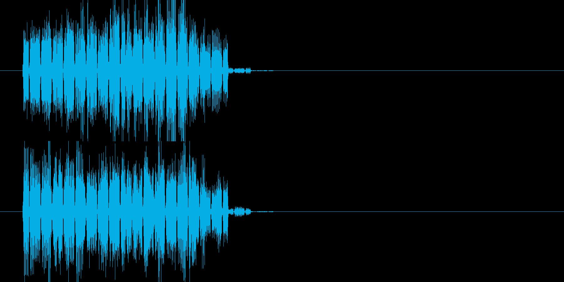ファミコン風 呪文音の再生済みの波形