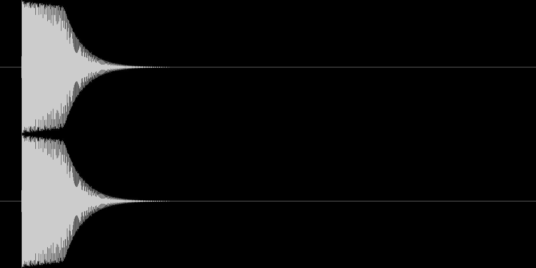 ヒュン(キャンセル音)の未再生の波形
