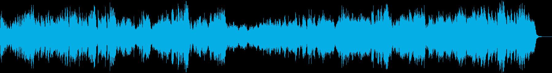 期待感高まるオープニングファンファーレの再生済みの波形