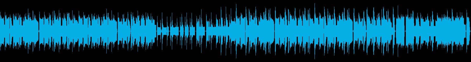 8bitで気怠い感じのコミカルなBGMの再生済みの波形