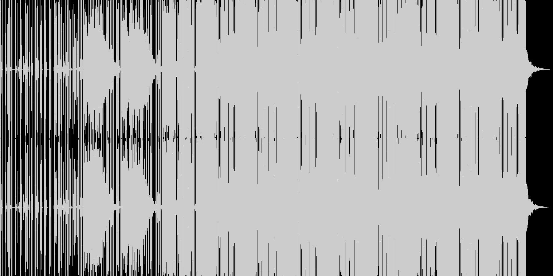 レトロフューチャーサイエンスエレクトロの未再生の波形