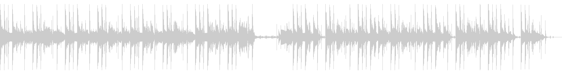 90 BPMの未再生の波形