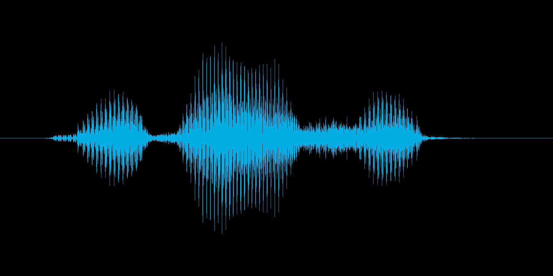 ディフェンスの再生済みの波形