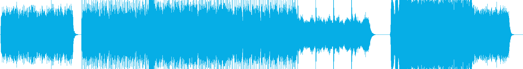 宇宙空間のようなテクノの再生済みの波形