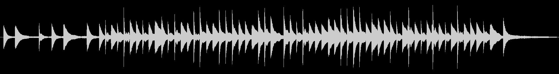 シンプルなピアノのBGMの未再生の波形