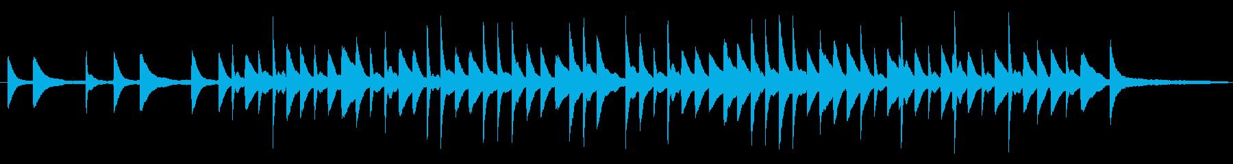 シンプルなピアノのBGMの再生済みの波形