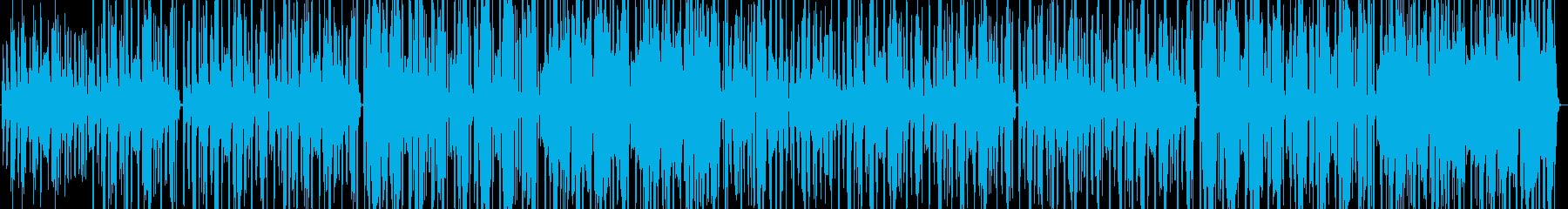 フューチャーサイエンスな雰囲気のテクノの再生済みの波形