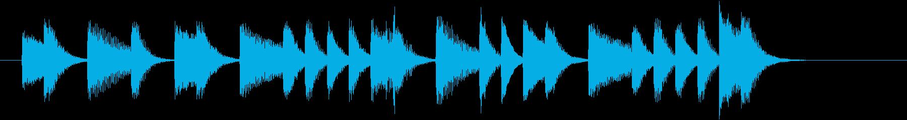 不思議なメロディの可愛いピアノジングルの再生済みの波形