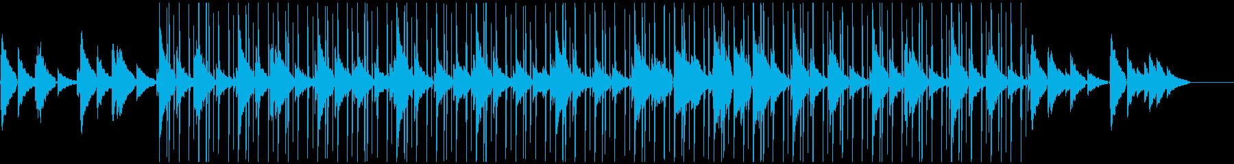 優しいエレキギターとエレピのキャンプ曲の再生済みの波形