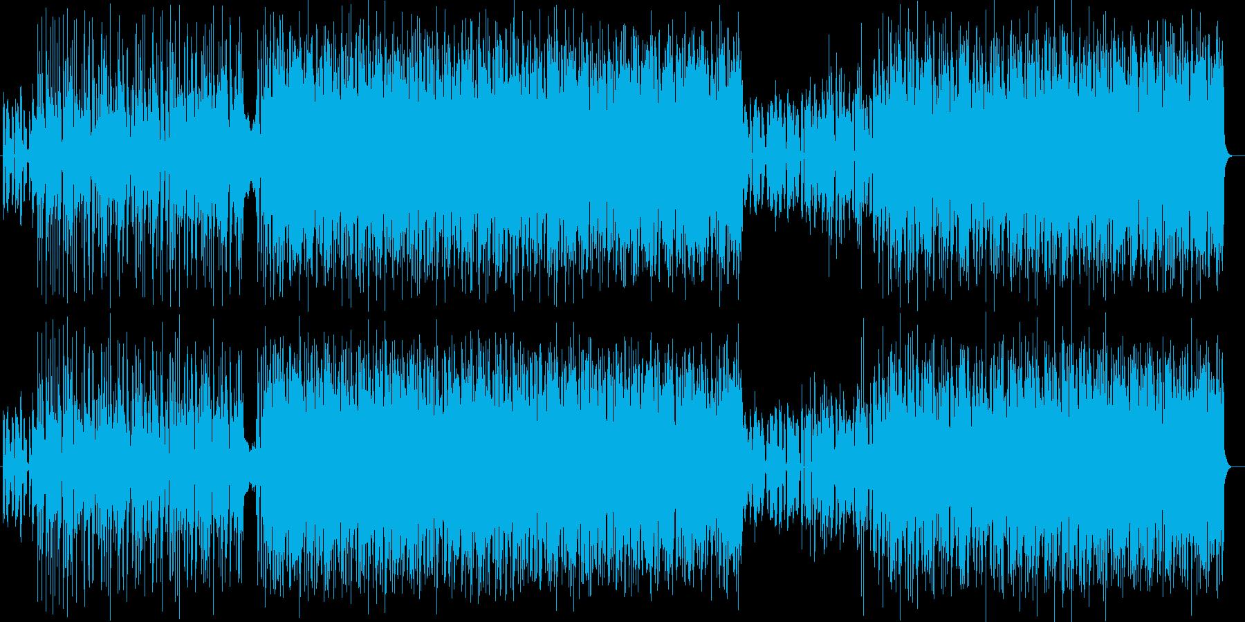 ダークでワイルドでクールなエレキロックの再生済みの波形