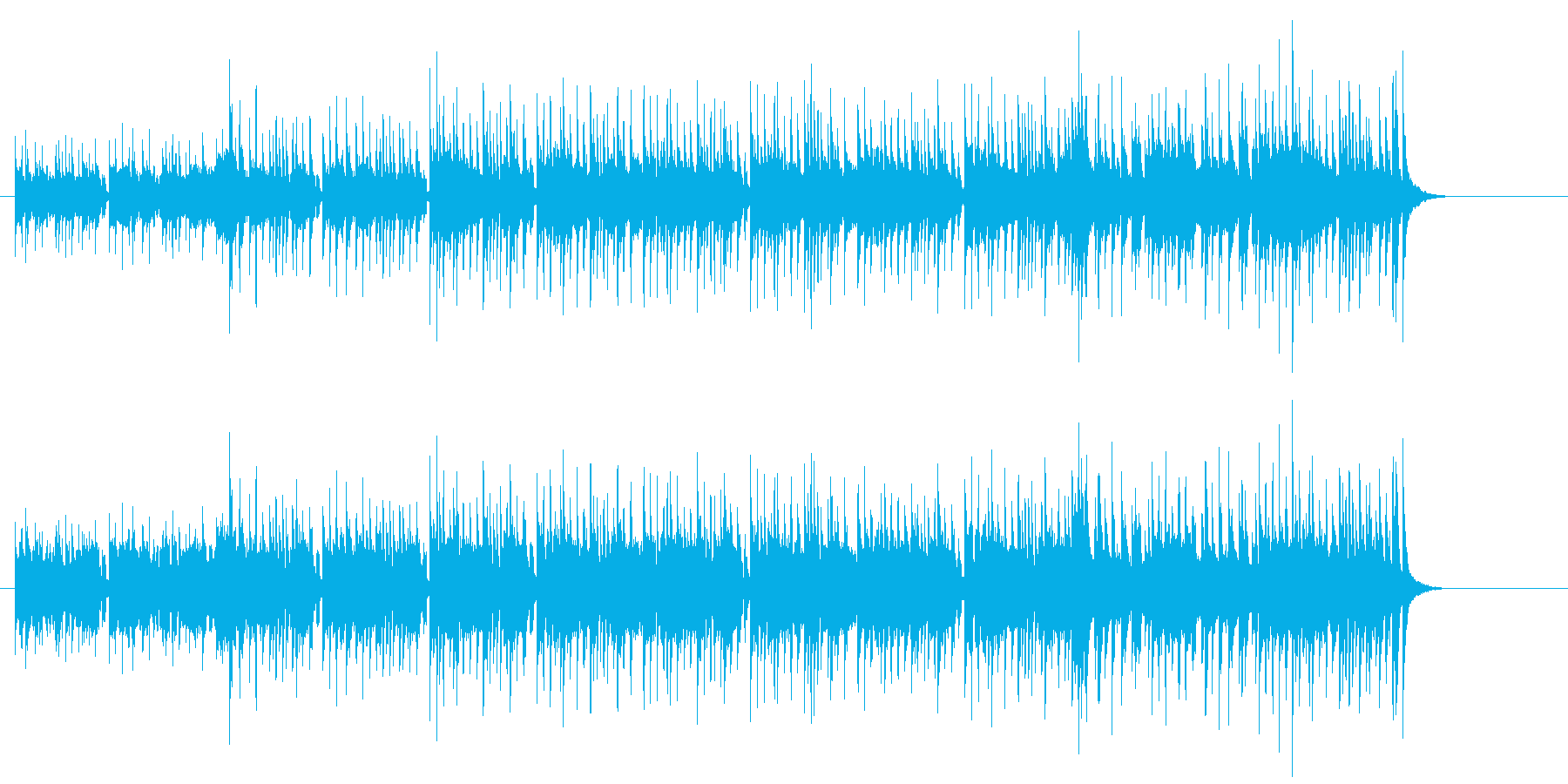 チョッパー・ベースが弾むフュージョンの再生済みの波形