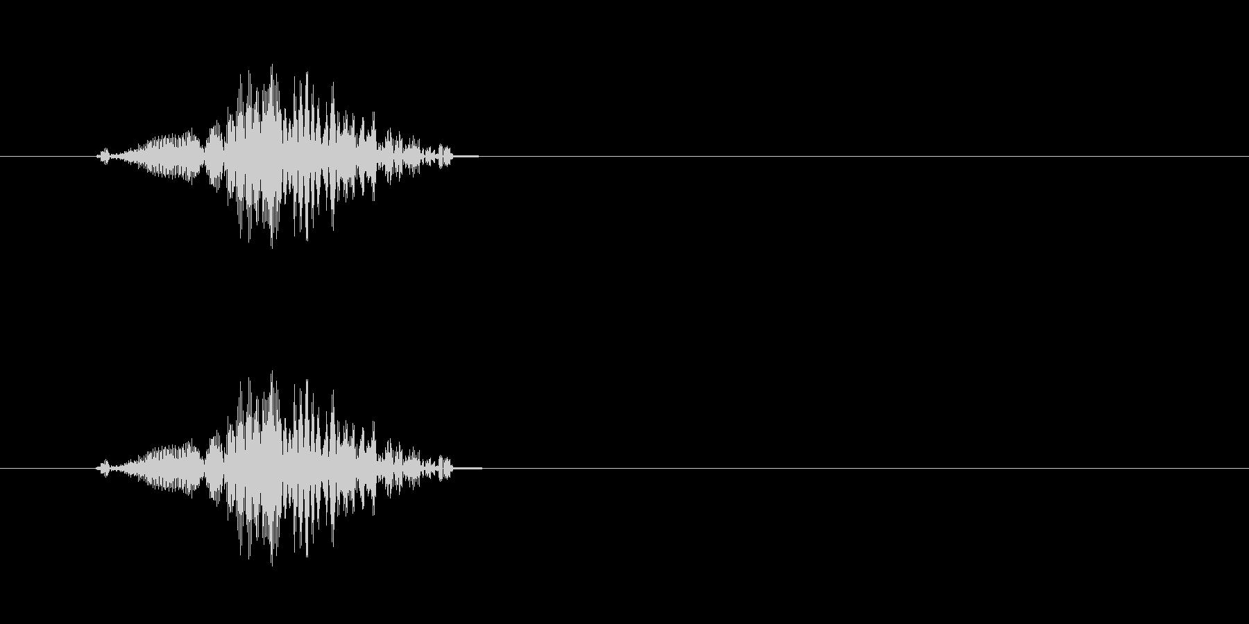 チュイッ(ビーム音色)の未再生の波形