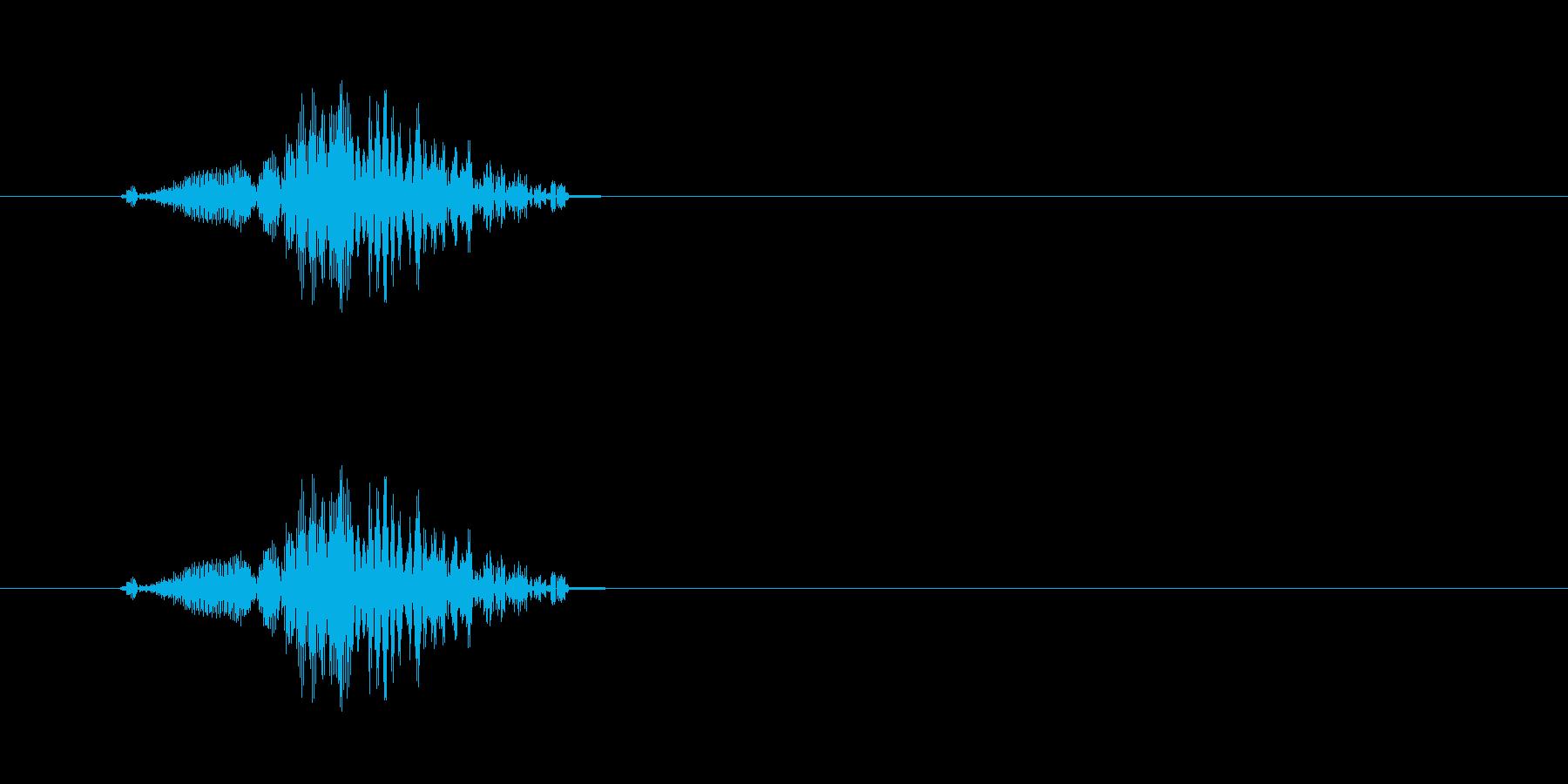 チュイッ(ビーム音色)の再生済みの波形