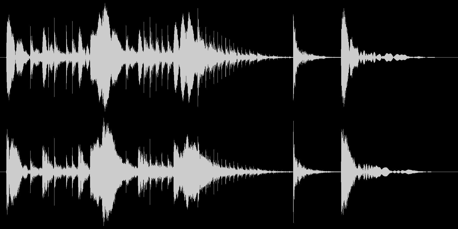 コンガによるコミカルなサウンドロゴの未再生の波形
