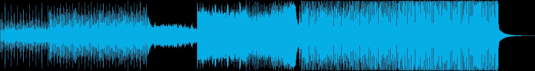 おしゃれ系、シリアスかっこいいEDMの再生済みの波形