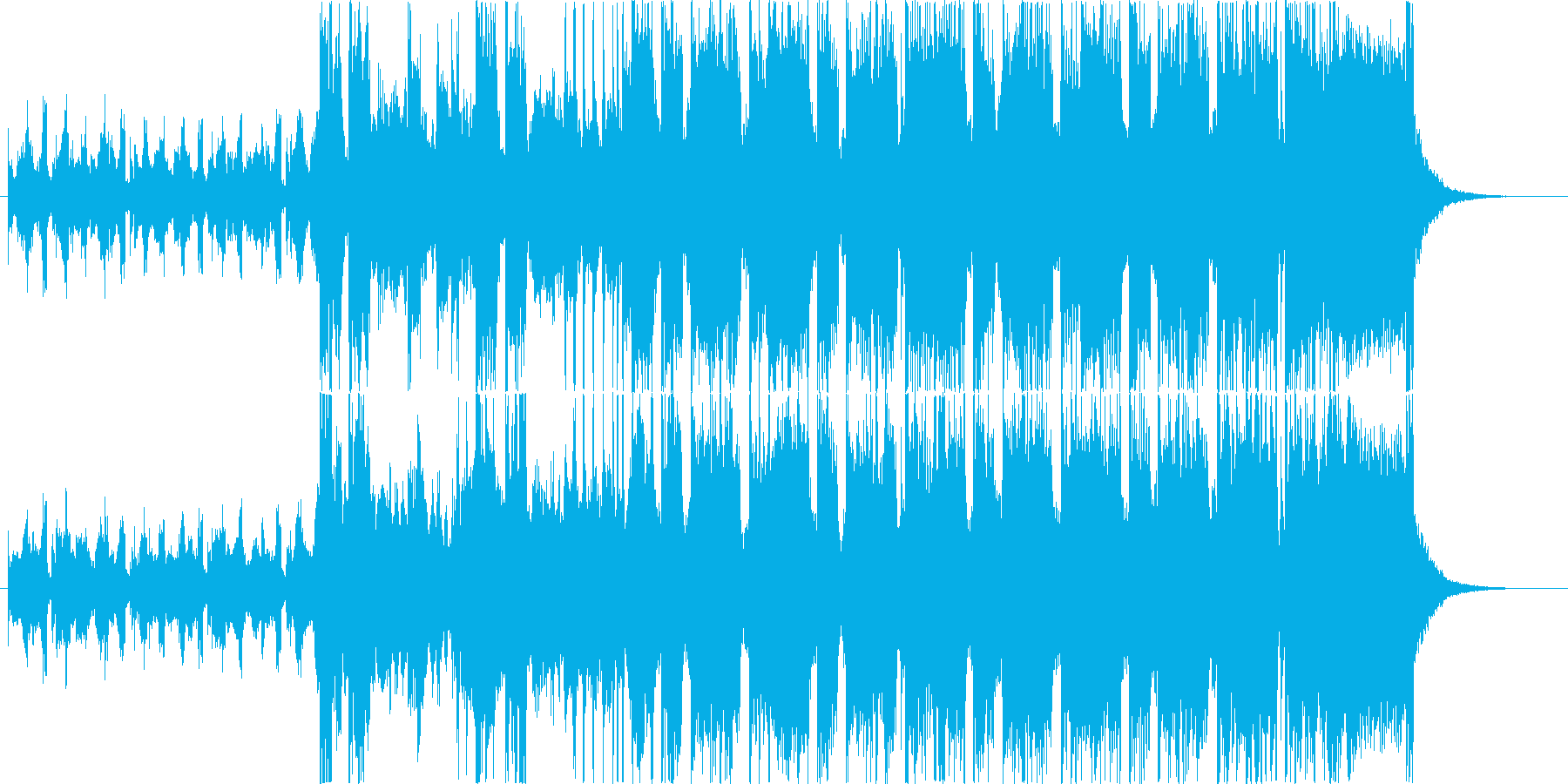 緊迫した重めのロック30秒バージョンの再生済みの波形