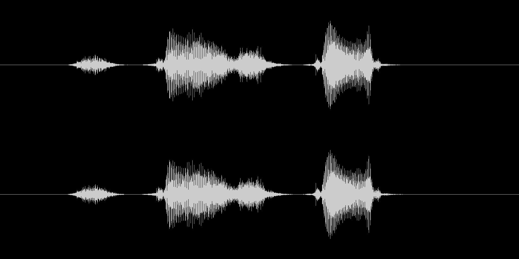 スタスタの未再生の波形