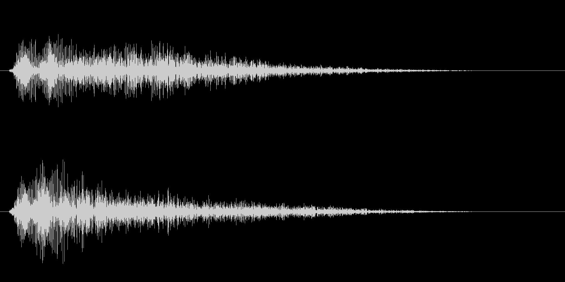 チューン(レーザーの発射音)の未再生の波形