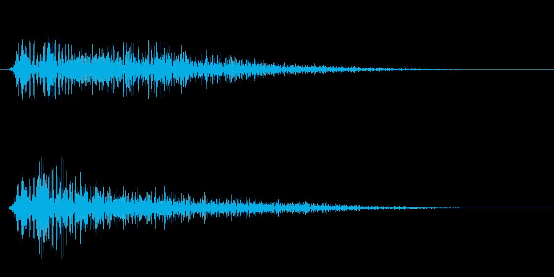 チューン(レーザーの発射音)の再生済みの波形