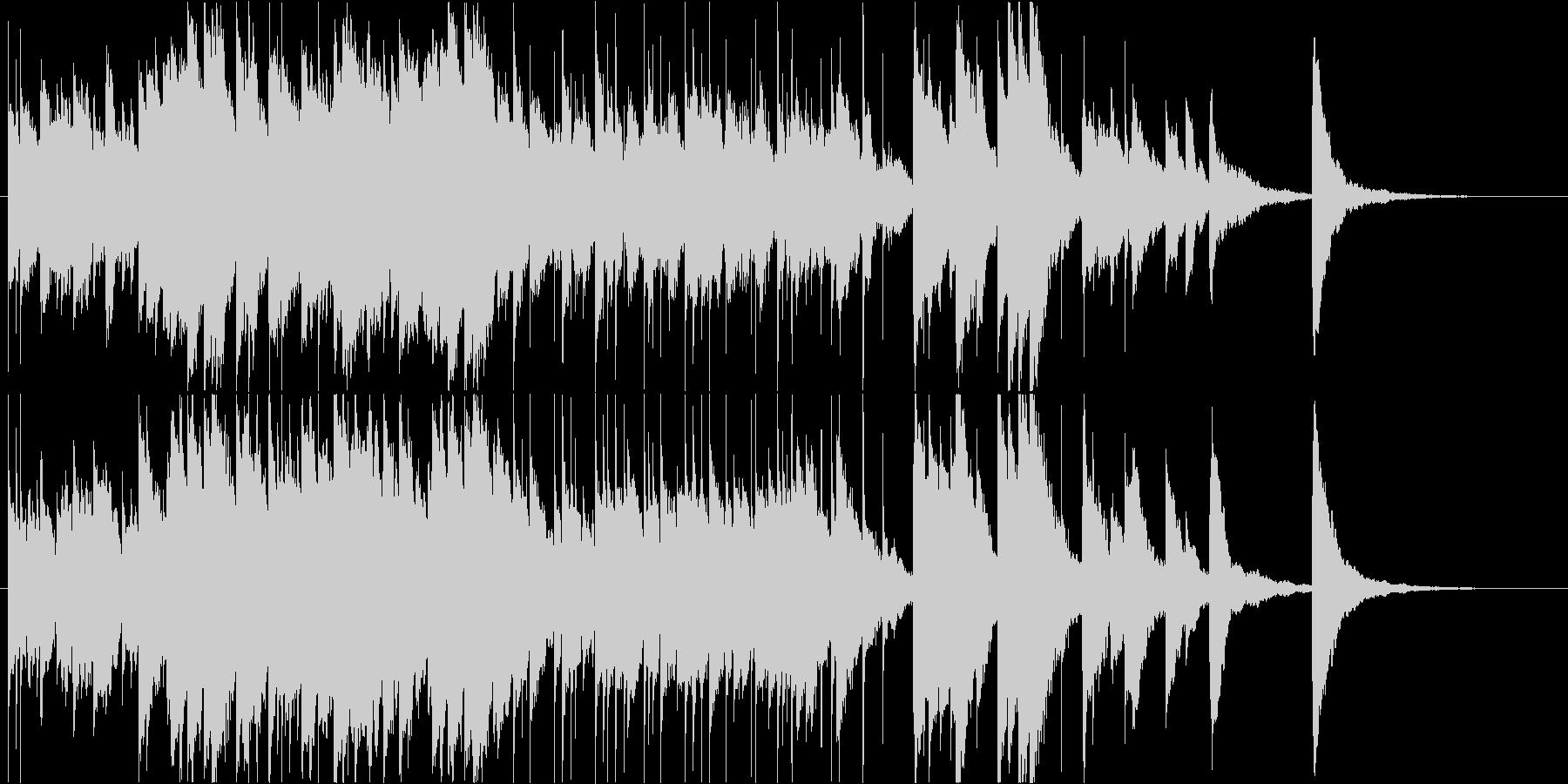 少し切ないハッピーエンド的オルゴールの未再生の波形