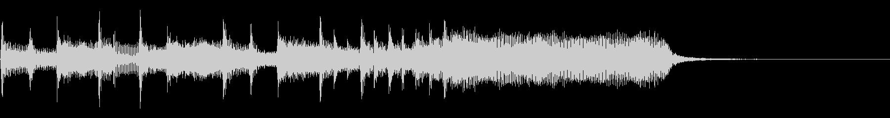 インパクトあるロックなジングル09の未再生の波形