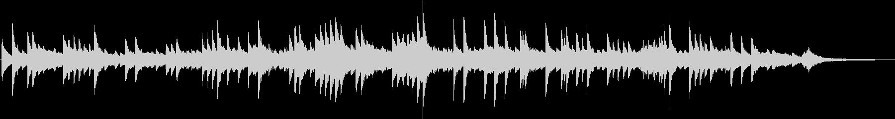 メロディアスな熱いヒューマンピアノBGMの未再生の波形