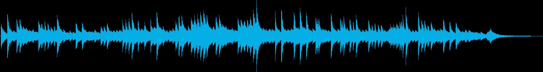 メロディアスな熱いヒューマンピアノBGMの再生済みの波形