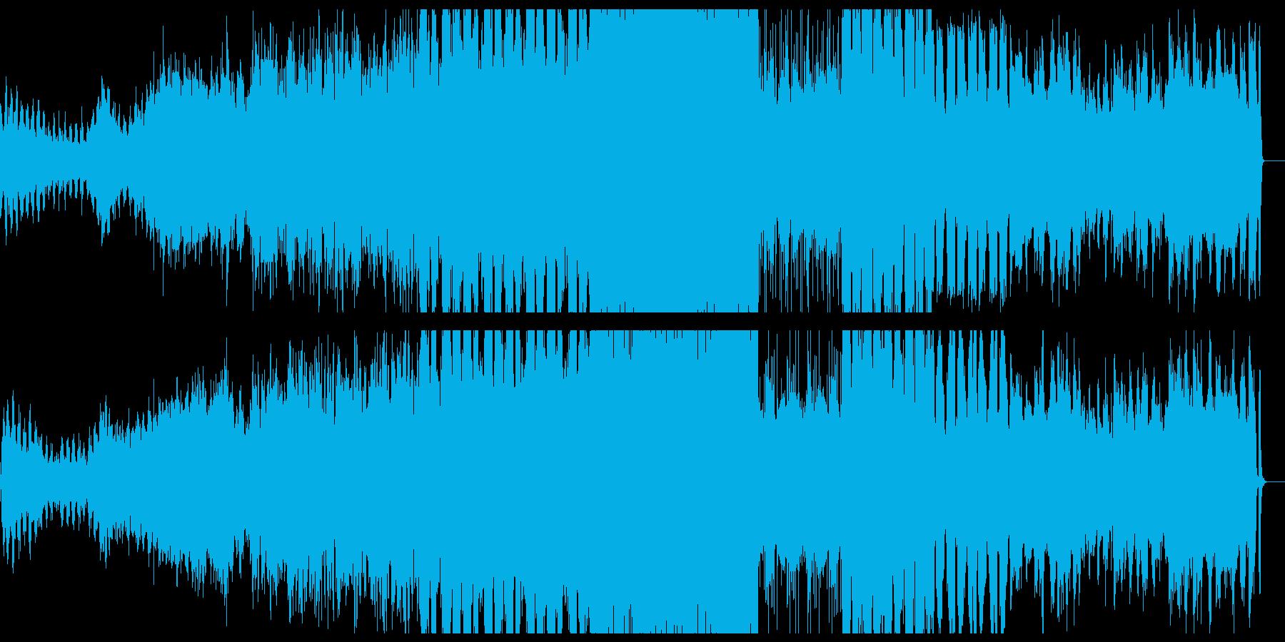 脳を刺激するようなノイズとシンセサイザーの再生済みの波形