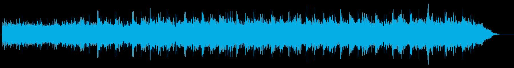 幻想的で宇宙的な雰囲気の曲の再生済みの波形