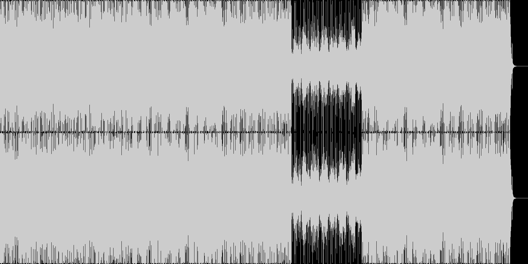 マリンバの旋律ほのぼのとしたEDM的な曲の未再生の波形