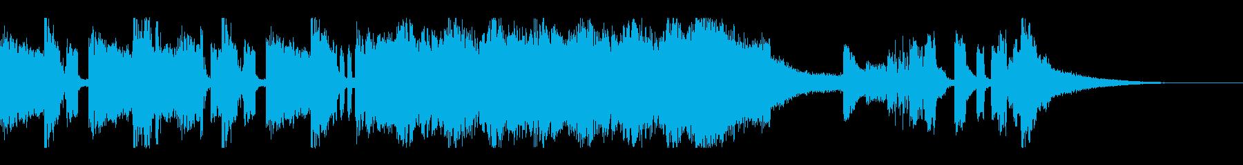 テクノ風リズム アイキャッチ ジングルの再生済みの波形